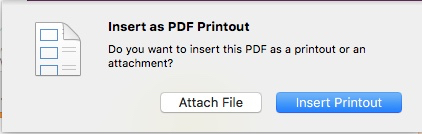 choose how to insert PDF