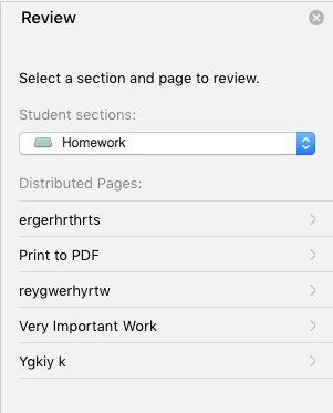 choose section and page