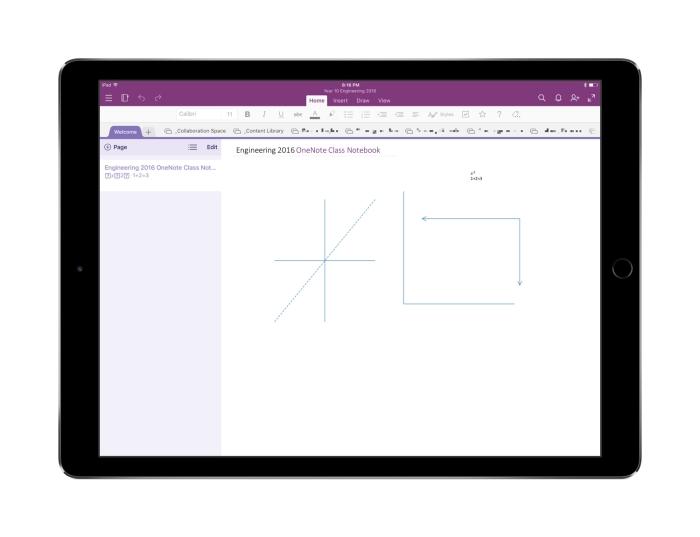 OneNote iPad